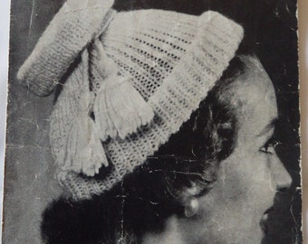 Original Vintage Ladies Hats (12 variations)  Knitting Pattern 1940s