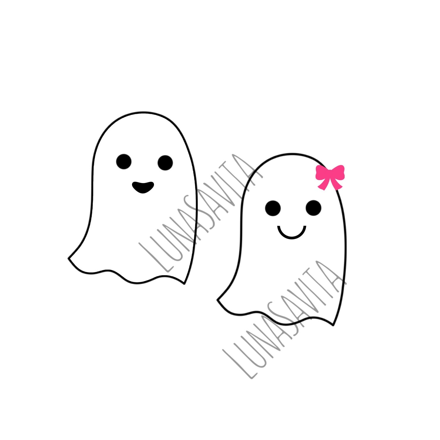 Ghosts SVG, DXF Files for Cricut Design Space, Silhouette ... Girl Ghost Clipart