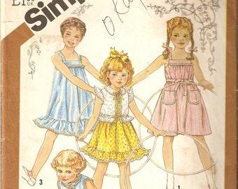 VINTAGE Simplicity Sewing Pattern 5466 - Children's Clothes - Toddler Sundress & Jacket, Size 6
