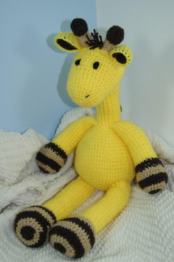 Cuddly Amigurumi Giraffe : Giraffe Cuddly Toy. Handmade Crochet. Gift by ChubbyPinkPiggy
