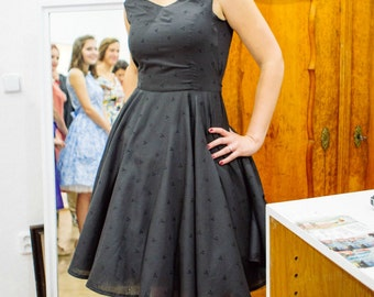 Elegant Black Retro Dress