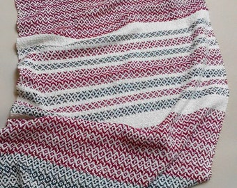 Woven baby blanket baby shower cotton blanket for baby newborn baby gifts hand woven cotton blanket hand made crib baby blanket baby girl