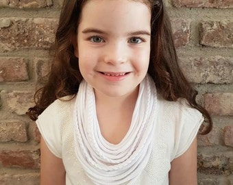 T shirt scarf for girls, fabric scarf/ necklace