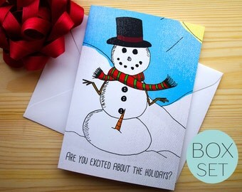 Funny Christmas Card Set,Funny Holiday Card Set,Family Christmas Card,Christmas Greeting Card Set,Boxed Christmas Cards,Xmas Card Set