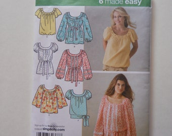 Simplicity Pullover Top  Pattern / New / Never Used / Sizes 8-10-12-14-16