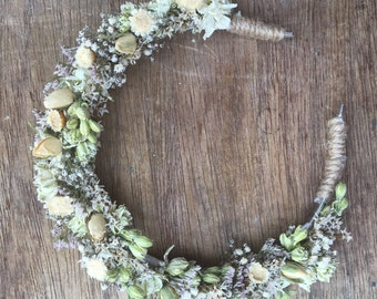 Dried Flower Headband Crown