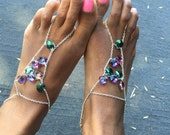 Foot Chain, Foot Jewelry, Crystal Jewelry