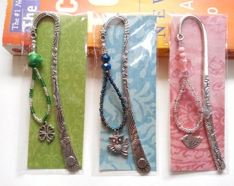 set of 3 metal bookmarks, metal bookmark, unique bookmark, gift for teachers by Naomi's Classy Craft