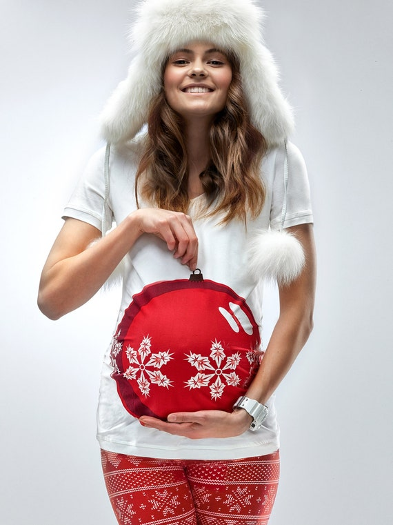 Bauble Bump Maternity Shirt Mamagama Pregnancy by ...