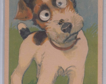 Heartfelt Jack Russell W Movable Eyes And Bee On Their Nose,Unused