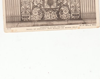 Hampton Court Palace Panel Of Wrought Iron Screen On Barge Walk  London Archiotectural Gate Panel