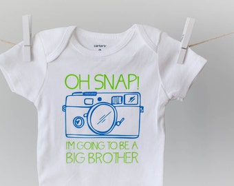 Oh Snap, I'm Going to be a Big Brother Onesie or Tee