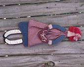 Primitive Annie Doll Patriotic Americana – Solid Wood – Handmade – Wall Hanging Home Decor– FAAP, OFG, HAFAIR, TeamHaHa