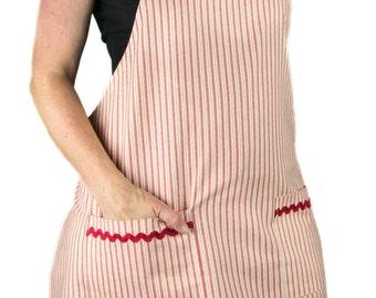 Women's Red Striped Apron (FULL)