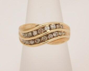 0.50 Carat T.W. Round Cut Diamond Cluster Ring 10K