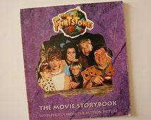 vintage 1990s the FLINTSTONES movie STORYBOOK. paperback. bedrock. modern stone age family. yabba-dabba-doo. motion picture. retro. urban.
