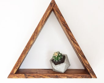 Triangle Shelf - Geometric Shelf - Plant Shelf - Crystal Shelf - Wall Shelf - Shelf - Triangle Shelves - Shelves - Wall Decor