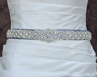 Wedding Belt, Bridal Belt, Sash Belt, Crystal Rhinestone Belt, Wedding Dress Sash, Style 5535