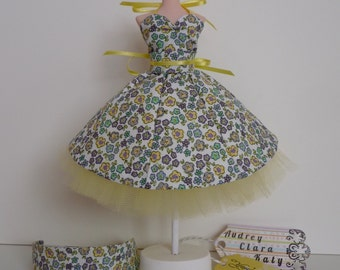 A 'You're Sew Special' dress for Pullip and Blythe dolls.