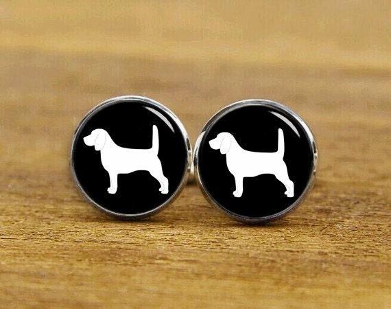 Beagle Puppies Cuff Links, Personalized Cufflinks, Beagle Cuff Links, Custom Any Dog Or Pets, Wedding Cuff Links, Round, Square Cuff Links