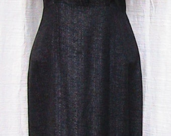 Hand Made Vintage 1950s Short Sleeve Dress