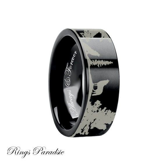 Wolf Ring Tungsten Tungsten Carbide Rings By Ringsparadise