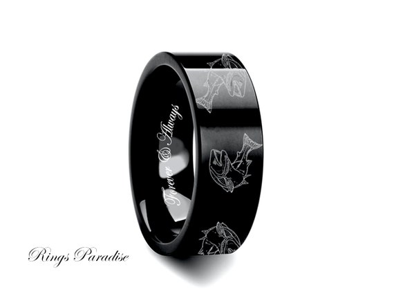wedding bands engraved tungsten ring rings mens gift his