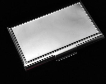 10 Blank business card card holder, Stainless steel business card holder blank,Engravable business card holder