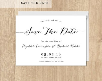 Printable Save The Date Card Rehearsal Save The Date Postcard Printable Wedding  Wedding Invitations French Collection Save The Date