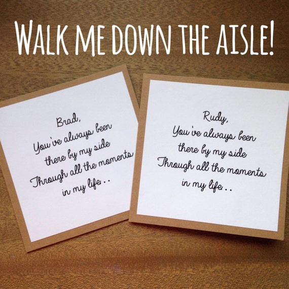 Will You Walk Me Down The Aisle Kraft Card By