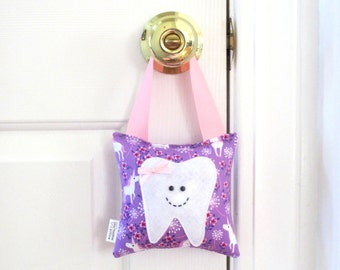Girls Tooth Fairy Pillow - Personalized Tooth Fairy Pillow - Unicorns