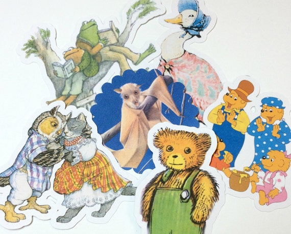 Large Storybook Die Cuts,Cut Outs,Scrapbooking,Paper Embellishments,Scrapbooking Die Cuts,Children Books Die Cuts,Version 1,Storybook Shower