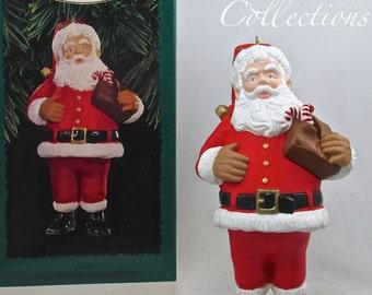 1996 Hallmark Santa Claus Keepsake Ornament Collector Club Exclusive KOCC KOC Vintage Edition Candy Cane Large Lovely!