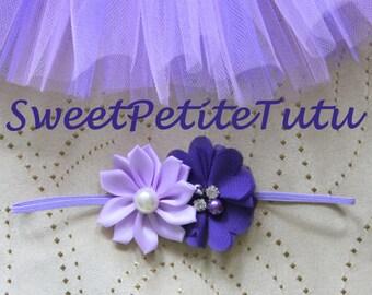 Lilac and Lavender newborn headband, Purple preemie headband, Purple headband, baby headband, Preemie headband, newborn headband, flower