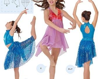 Simplicity 1077 DANCEWEAR Girls Knit Danceware