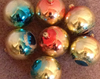 Vintage Mercury Glass Ball Ornaments