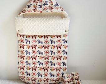 Baby cotton Fotmuff Scandinavian Horses