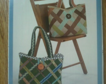Indygo Junction Tic-Tac-Tote Pattern for Two Styles of Tote Bags