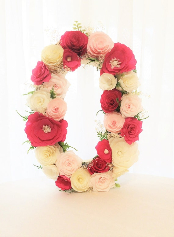 Items similar to floral letter wall decor large 16 for Letter n decorations