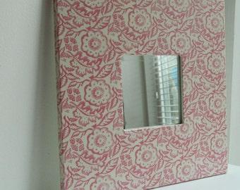 Decoupage/Decopatch Mirror With Emma Bridgewater Pink Wallpaper design