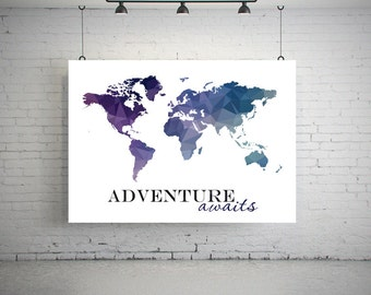 World map poster world map art world map print world map large world map poster geometric world map art world map poster world map gumiabroncs Image collections