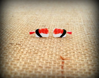Sushi Earrings - Sushi Jewelry - Ebi Shrimp - Ebi Sushi - Japanese Sushi - Chef Jewelry - Cook Earrings - Foodie Earrings - Food Fashion