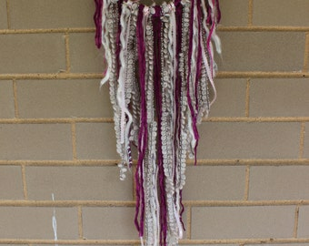 Handmade Dreamcatcher - Fuchsia, Pink, and White - Urban Outfitters, Free People