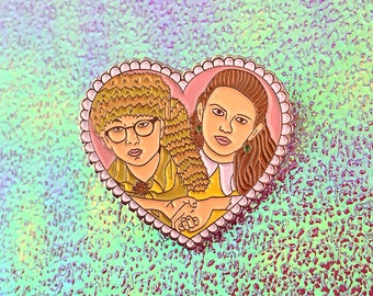 Sam and Suzy Moonrise Kingdom Inspired - Silver Soft Enamel Pin