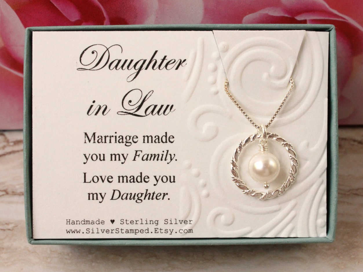 Wedding Gift For Mother In Law: Daughter In Law Gift From Mother In Law Sterling Silver