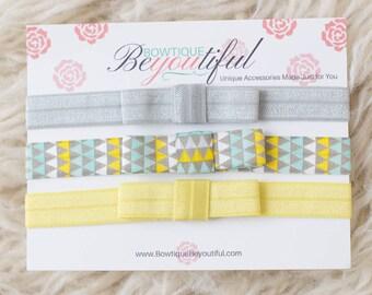 Headband Set - Baby Headbands - Bow Headband - Baby Girl Headbands - Infant Headbands - Girls Headbands - Baby Shower Gift - New Baby Gift