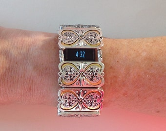 FitBit Charge Band Cover and Fitbit Charge HR Cover Bracelet: The Heart of Brighton with Window and optional Heart Earrings