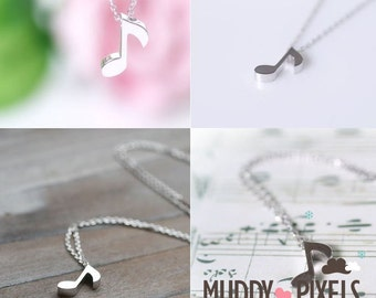 Kawaii Little Music Note Necklace