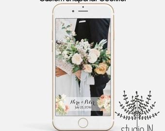 SNAPCHAT GEOFILTER, Custom Snapchat Geofilter, Wedding geofilter, Snapchat filter, floral snapchat geofilter