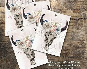 Gift tag, flower gift tags, printable tags, wedding gift tag, watercolor gift tag, wedding favor tag, favor tag, DIY tag, gift label,